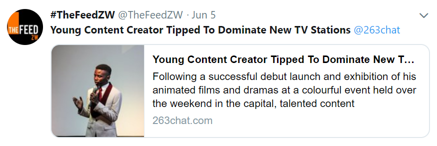 The Feedzw retweets official launch article