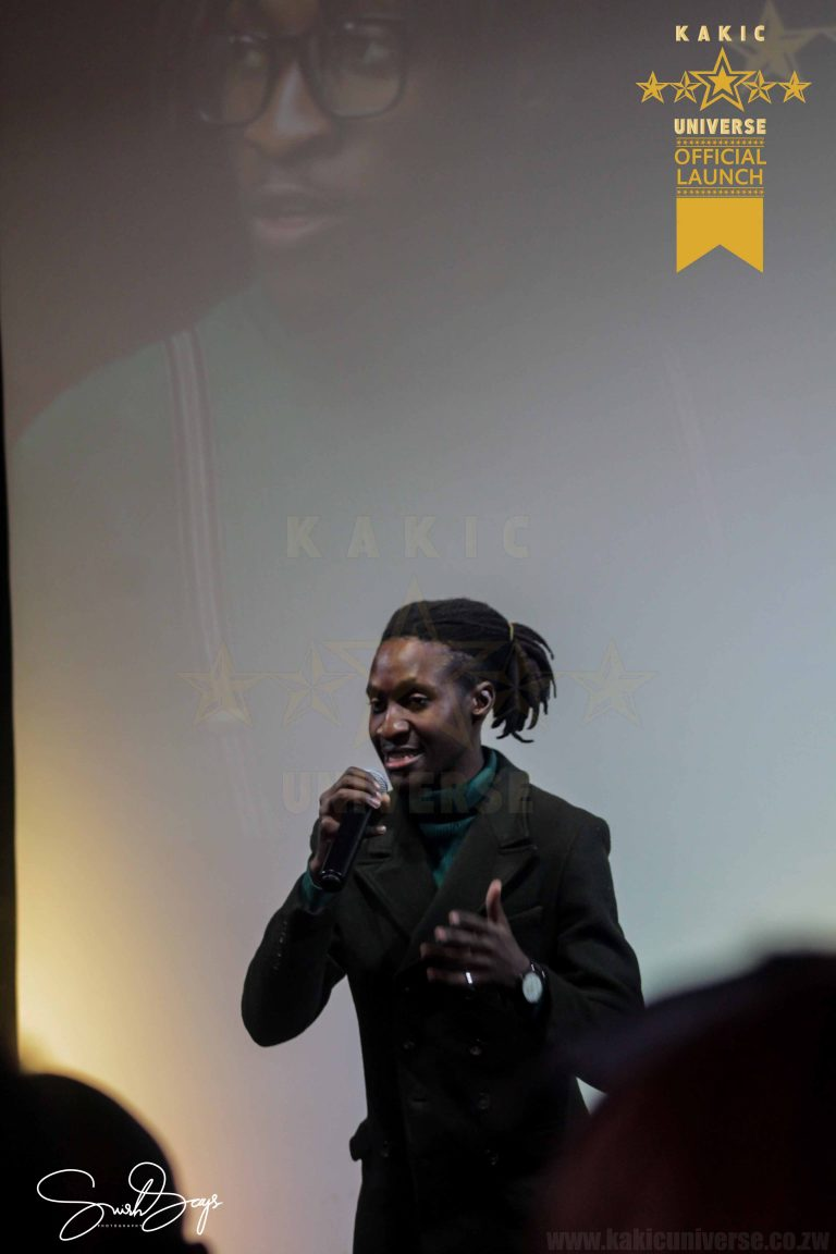 Hey Hey Preacher Performing a Poem at the Kakic Universe Official Launch