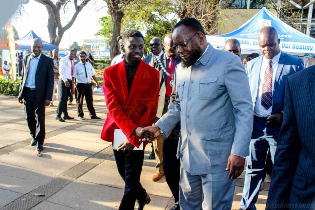 Kudakwashe Maxwell Meeting Honourable Minister Doctor Lazarus Dokora