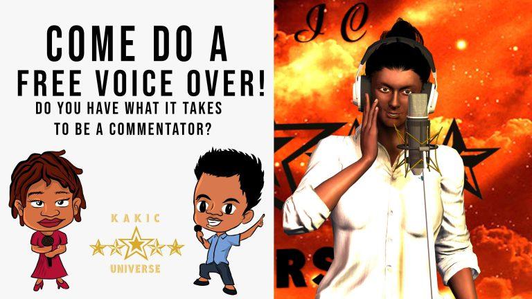 Kakic Universe Free Voice Over Challenge