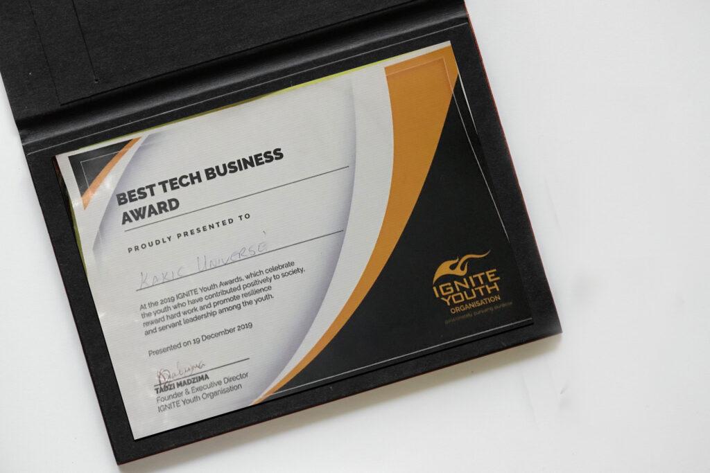 Ignite Youth Organisation Best Tech Business Award | Zimbabwe Animation | Kakic Universe